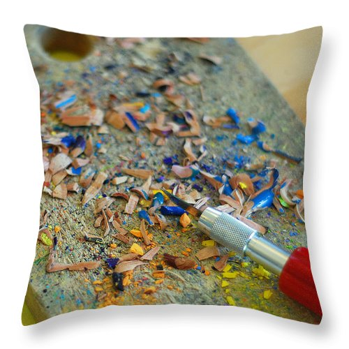 Tools Of The Trade Throw Pillow featuring the photograph Tools Of The Trade by Lisa Phillips