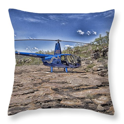 Helicopter Throw Pillow featuring the photograph Top of the Gorge by Douglas Barnard