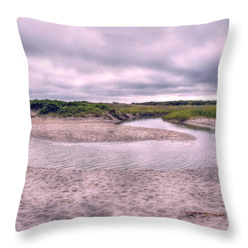 Topsail Throw Pillow featuring the photograph Topsail Serenity by Betsy Knapp