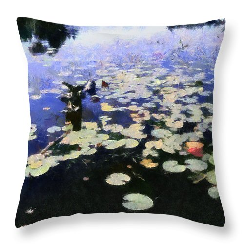 Lily Pad Throw Pillow featuring the photograph Torch River Water Lilies 3.0 by Michelle Calkins