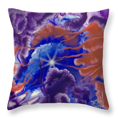 Silence Throw Pillow featuring the painting Touch Of Silence by Rain Crow
