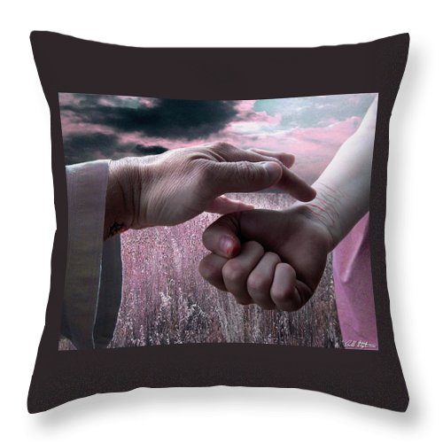 Suicide Throw Pillow featuring the digital art Touched by Bill Stephens