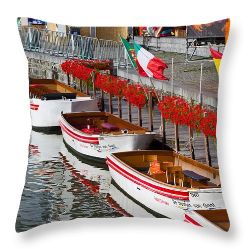 Europe Throw Pillow featuring the photograph Tour Boats by David Freuthal