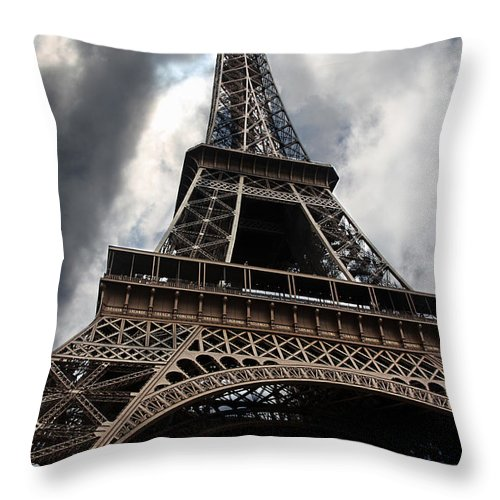 Paris Throw Pillow featuring the photograph Tour Eiffel by Claudia Moeckel
