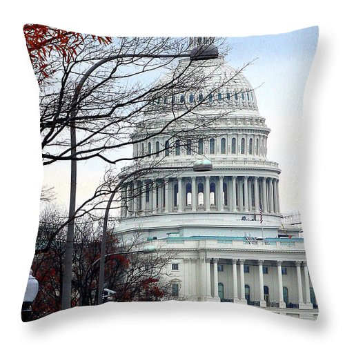 Throw Pillow featuring the photograph Tourist Site by Burney Lieberman