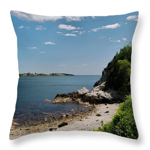 Jamestown Throw Pillow featuring the photograph Towards Newport by Barry Doherty