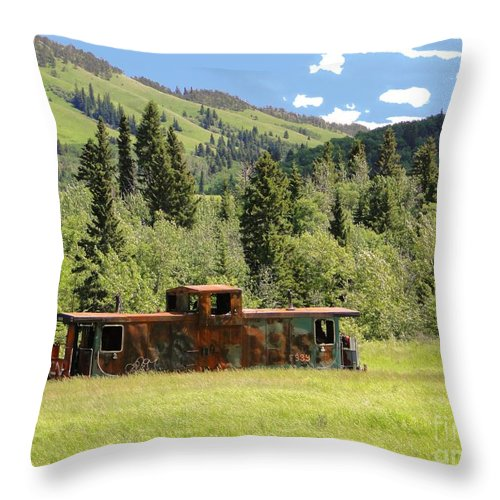 Al Bourassa Throw Pillow featuring the photograph Trackless And Abandoned by Al Bourassa