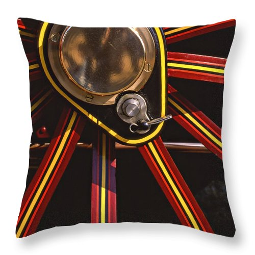 Traction Engine Throw Pillow featuring the photograph Traction by Meirion Matthias