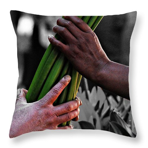 People Throw Pillow featuring the photograph Trade by David Resnikoff