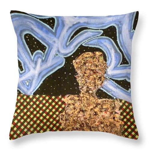 � Throw Pillow featuring the painting Train 3 by JC Armbruster