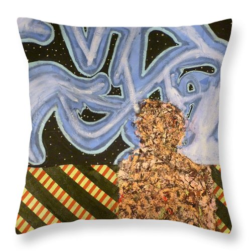 � Throw Pillow featuring the painting Train 4 by JC Armbruster
