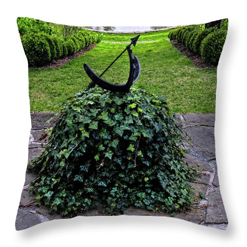 Garden Throw Pillow featuring the photograph Tranquility by Dave Mills