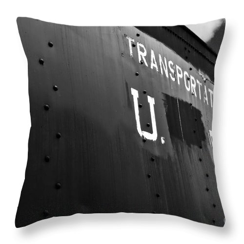 Transport Throw Pillow featuring the photograph Transportation Corps Car by Dariusz Gudowicz