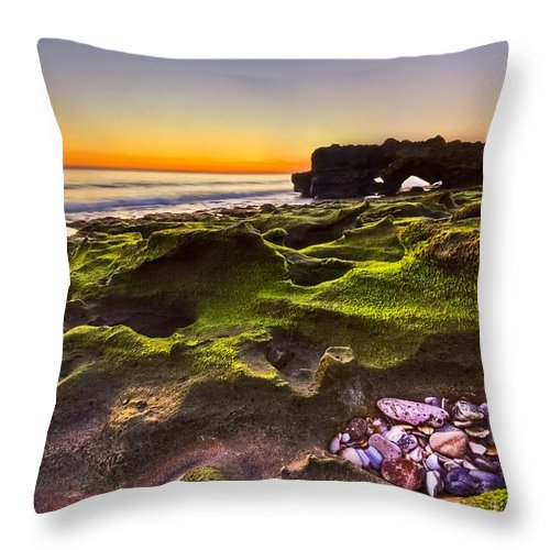 Blowing Rocks Throw Pillow featuring the photograph Treasure Trove by Debra and Dave Vanderlaan