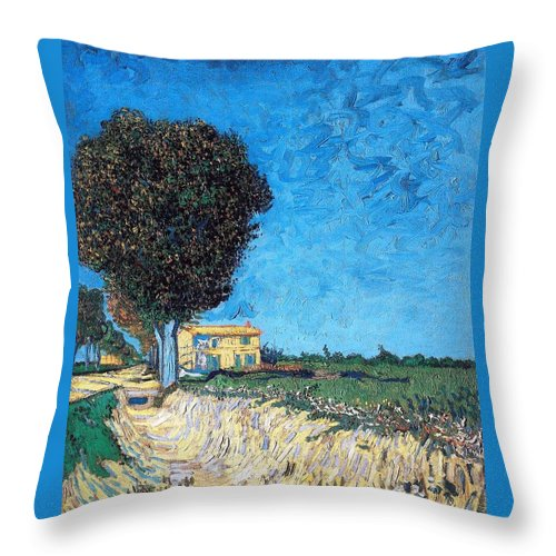 Farm Throw Pillow featuring the photograph Tree House At A Farm by Sumit Mehndiratta