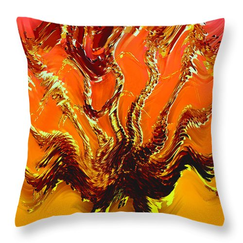 Abstract Throw Pillow featuring the photograph Tree Of Fragility by DigiArt Diaries by Vicky B Fuller