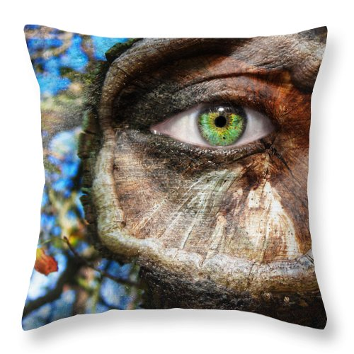Art Throw Pillow featuring the photograph Tree Trunked by Semmick Photo