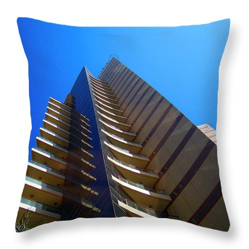 Building Throw Pillow featuring the photograph Triangles by Farah Faizal