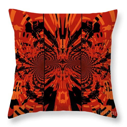 Abstract Throw Pillow featuring the digital art Tribal Lion by William Ladson