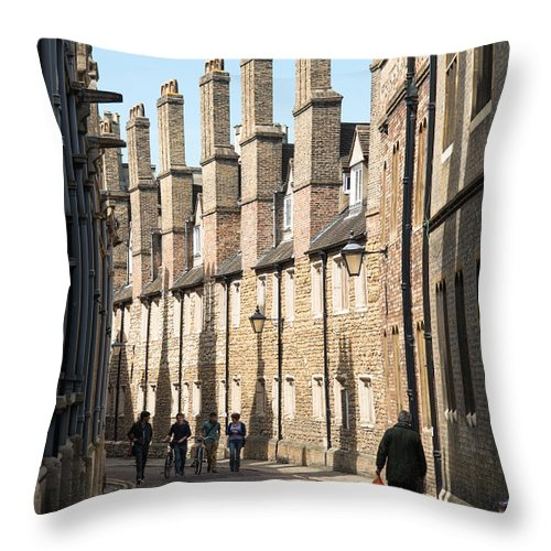 Cambridge Throw Pillow featuring the photograph Trinity Lane by Andrew Michael