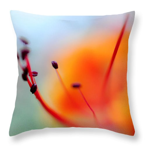 Flower Throw Pillow featuring the photograph Tropical Delight. Natural Watercolor by Jenny Rainbow