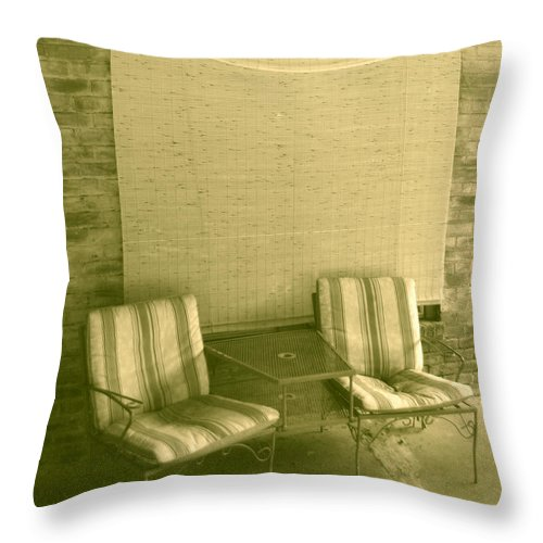 Chairs Throw Pillow featuring the photograph Tropical Heat Wave by Nina Fosdick