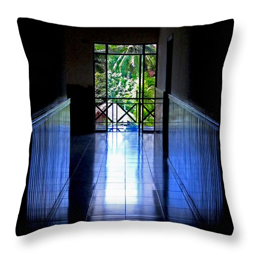 Contrast Throw Pillow featuring the photograph Tropical Lighting by Mark Sellers
