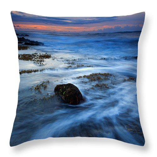 Koloa Throw Pillow featuring the photograph Tropical Sunrise Swirl by Mike Dawson