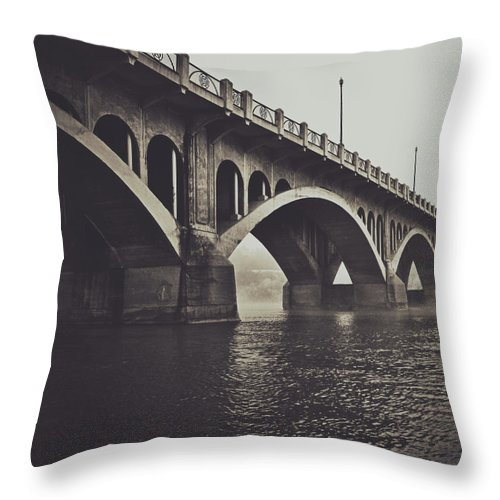 Rural Decay Throw Pillow featuring the photograph Troubled Water by The Artist Project