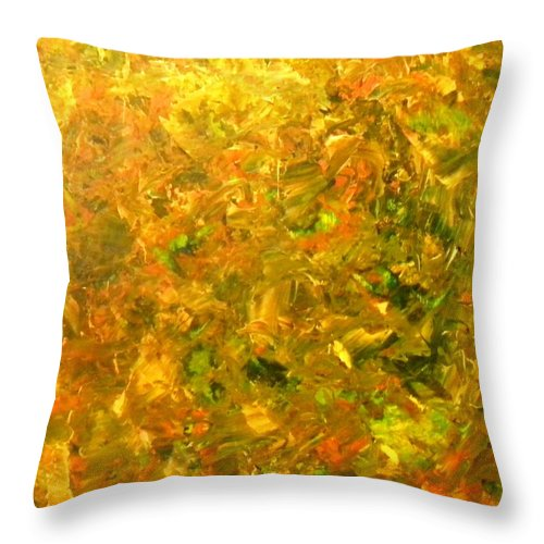 Forest Throw Pillow featuring the painting Truffle Hunt by Etta Harris