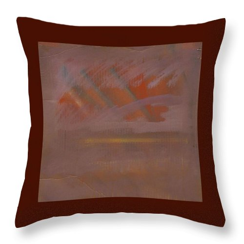 Tsunami Throw Pillow featuring the painting Tsunami Morning by Charles Stuart