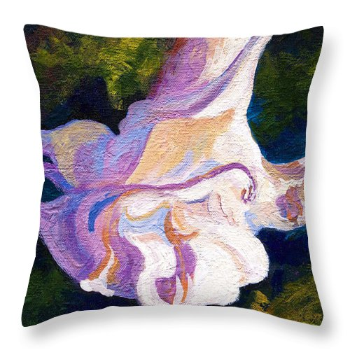 Flower Throw Pillow featuring the painting Tulip Tree by Marion Rose