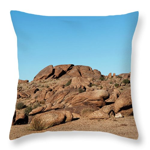 Gold Butte Region Throw Pillow featuring the photograph Tumbling Rocks Of Gold Butte by Lorraine Devon Wilke