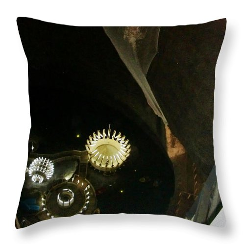 Salt Mine Throw Pillow featuring the photograph Turda Salt Mine by Amalia Suruceanu