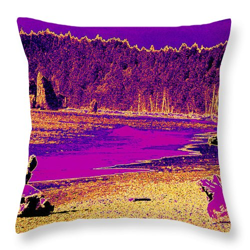 Twilight Throw Pillow featuring the photograph Twilight On La Push Beach by Carol Groenen