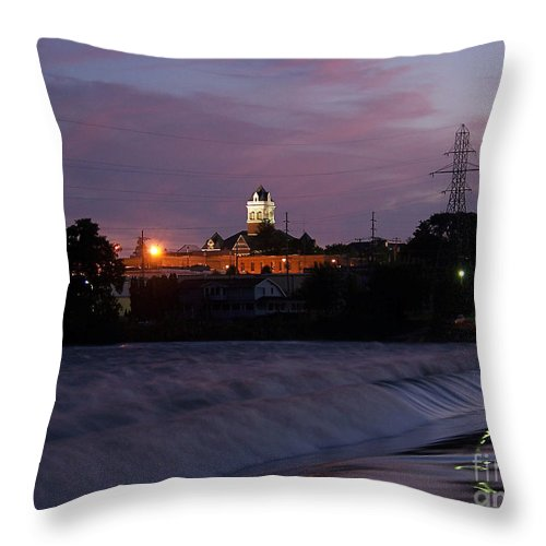 Color Photography Throw Pillow featuring the photograph Twilight Rush II by Sue Stefanowicz