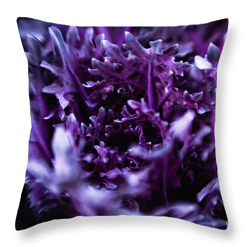 Abstract Throw Pillow featuring the photograph Twirl by Venetta Archer
