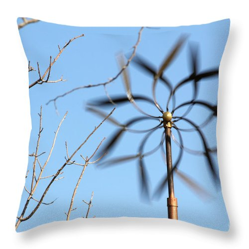 Windmill Throw Pillow featuring the photograph Twirler by Alycia Christine