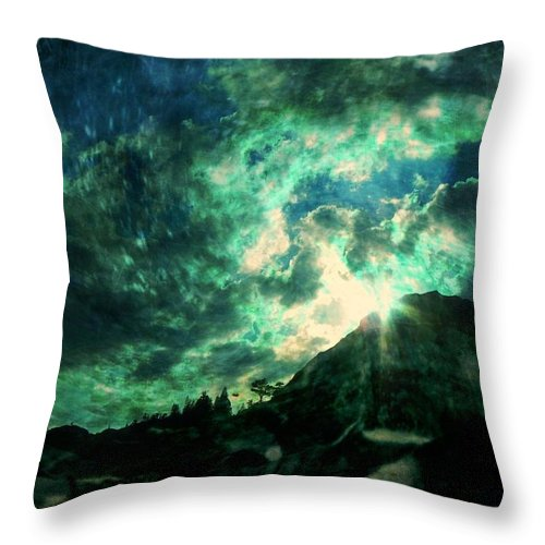 Mountain Throw Pillow featuring the photograph Twisted Nimbus by Leah Moore