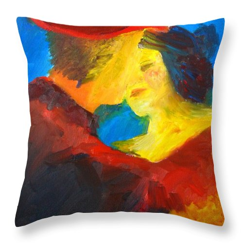 Tango Throw Pillow featuring the painting Two Am Tango by Keith Thue