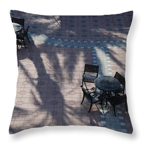 Shadows Throw Pillow featuring the photograph Two By Two by Michael L Gentile