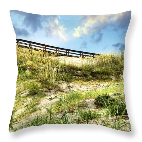 Tybee Throw Pillow featuring the photograph Tybee Island Dunes No.2 by Tammy Wetzel