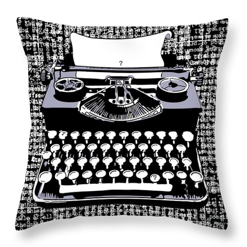 Typewriter Throw Pillow featuring the digital art Typography by Laura Brightwood