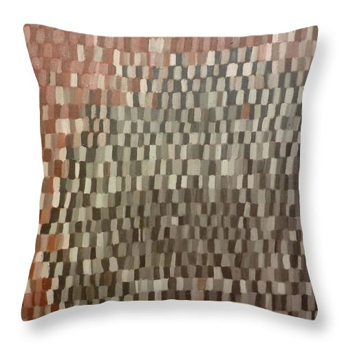 Brown Painting Throw Pillow featuring the painting Umbers by Patrice Tullai