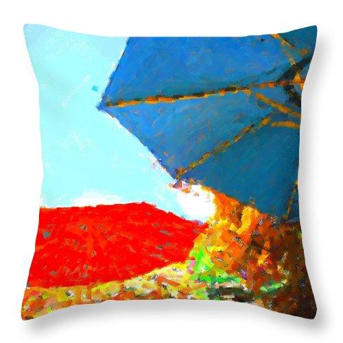 Throw Pillow featuring the photograph Umbrella by Susan Carella