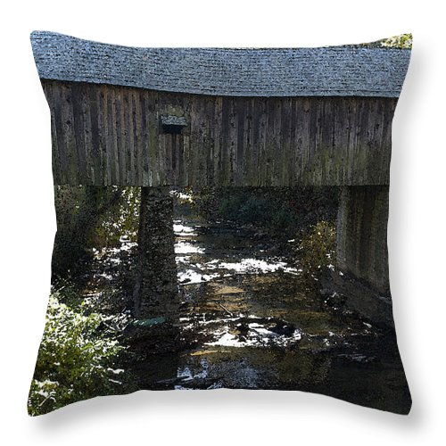 Kelly Rader Throw Pillow featuring the photograph Under The Bridge by Kelly Rader
