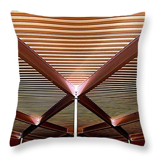 Tramway Throw Pillow featuring the photograph Under The Canopy Tramway Gas Station by Randall Weidner