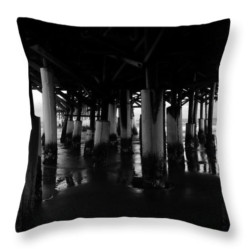 Fine Art Photography Throw Pillow featuring the photograph Under The Old Boardwalk by David Lee Thompson