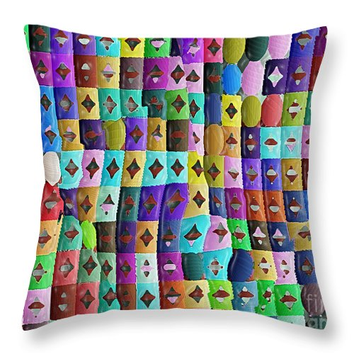 Ebsq Throw Pillow featuring the digital art Unexpected Turns by Dee Flouton