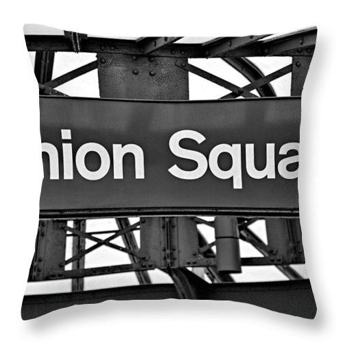 Union Square Throw Pillow featuring the photograph Union Square by Susan Candelario